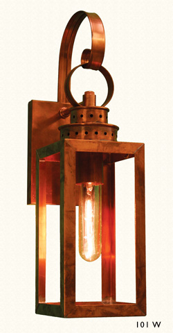 Copper Lantern style 101W Cambridge Lantern Works